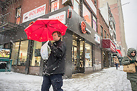 A RadioShack store in Chelsea in New York on Monday, February 2, 2015.   RadioShack is reported to be in talks to sell half its stores to Sprint and close the rest in a bankruptcy deal, effectively shutting down the company. (© Richard B. Levine)