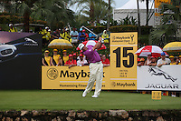 With four holes to go, the contenders floundering, all Lee Westwood (ENG) has to do is keep his nerve during the Final Round of the 2014 Maybank Malaysian Open at the Kuala Lumpur Golf & Country Club, Kuala Lumpur, Malaysia. Picture:  David Lloyd / www.golffile.ie