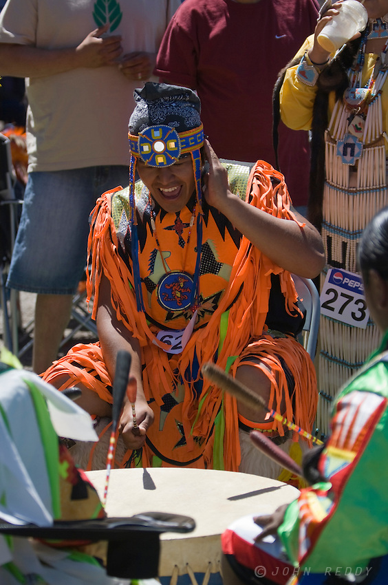 Native American drummers and singers at North American Indian Days