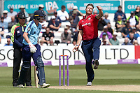 Matt Coles in bowling action for Essex during Essex Eagles vs Yorkshire Vikings, Royal London One-Day Cup Play-Off Cricket at The Cloudfm County Ground on 14th June 2018