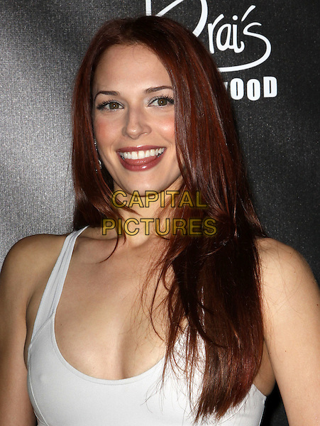 AMANDA RIGHETTI.E! Oscar Viewing And After Party held At Drai's at The W Hotel, Hollywood, California, USA..March 7th, 2010.headshot portrait white.CAP/ADM/KB.©Kevan Brooks/AdMedia/Capital Pictures.