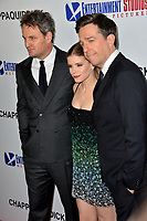 Jason Clarke, Kate Mara &amp; Ed Helms at the premiere for &quot;Chappaquiddick&quot; at the Samuel Goldwyn Theatre, Los Angeles, USA 28 March 2018<br /> Picture: Paul Smith/Featureflash/SilverHub 0208 004 5359 sales@silverhubmedia.com