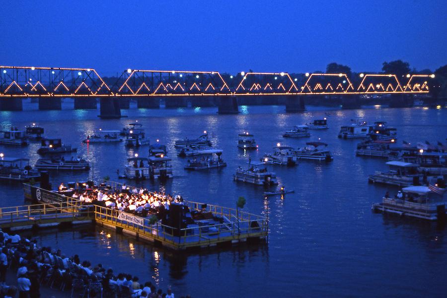 Harrisburg Symphony Barge Concert, Susquehanna River, PA