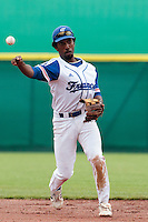 27 july 2010: Felix Brown of France throws the ball to first base during France 8-2 victory over Belgium, in day 5 of the 2010 European Championship Seniors, in Stuttgart, Germany.