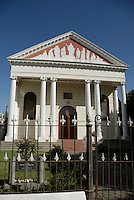Church with columns,  Stellenbosch, Western Cape Province, South Africa