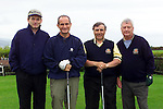 Kieran Taffe past captain, Dr. Martin McAleese, Captain Des Dunne and Bert Giff past captain  on the first tee in Dundalk Golf Club..Pic Fran Caffrey Newsfile..Camera:   DCS620X.Serial #: K620X-00546.Width:    1728.Height:   1152.Date:  11/5/01.Time:   19:51:31.DCS6XX Image.FW Ver:   3.2.3.TIFF Image.Look:   Product.Sharpening Requested: Yes.Counter:    [6797].Shutter:  1/40.Aperture:  f10.ISO Speed:  400.Max Aperture:  f2.8.Min Aperture:  f22.Focal Length:  48.Exposure Mode:  Manual (M).Meter Mode:  Color Matrix.Drive Mode:  Continuous High (CH).Focus Mode:  Single (AF-S).Focus Point:  Center.Flash Mode:  Normal Sync.Compensation:  +0.0.Flash Compensation:  +0.0.Self Timer Time:  10s.White balance: Custom.Time: 19:51:31.318.
