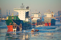 Schiffe im Hamburger Hafen auf Reede: EUROPA, DEUTSCHLAND, HAMBURG, (EUROPE, GERMANY), 23.01.2013: Schiffe im Hamburger Hafen auf Reede.