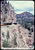 Train headed to Silverton on the High Line above Animas River.<br /> D&amp;RGW  Animas Canyon, CO