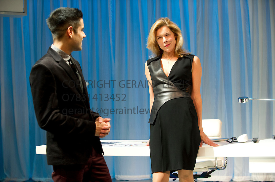 NSFW by Lucy Kirkwood, directed by Simon Godwin. With Sacha Dhawan as Sam, Janie Dee as Miranda. Opens at The Jerwood Theatre Downstairs at The Royal Court Theatre on 30/10/12. CREDIT Geraint Lewis