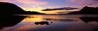 © David Paterson.Loch Assynt, west Sutherland, at sunset; Scottish Highlands...Keywords: sunset, evening, sundown, dusk, lake, loch, water, quiet, peace, tranquil, Assynt, Sutherland, Scotland, Highlands