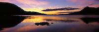 © David Paterson.Loch Assynt, west Sutherland, at sunset; Scottish Highlands...Keywords: sunset, evening, sundown, dusk, lake, loch, water, quiet, peace, tranquil, Assynt, Sutherland, Scotland, Highlands