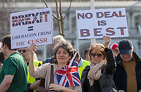 BREXIT Protests on the day the UK was due to leave Europe, in Central London, England on 29 March 2019.<br /> Photo by Andy Rowland.