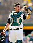 24 April 2007: University of Vermont Catamounts' catcher Jeff Nolet, a Sophomore from Concord, MA, in action against the Dartmouth College Big Green at Historic Centennial Field, in Burlington, Vermont. The Catamounts defeated the Big Green 11-5...Mandatory Photo Credit: Ed Wolfstein Photo