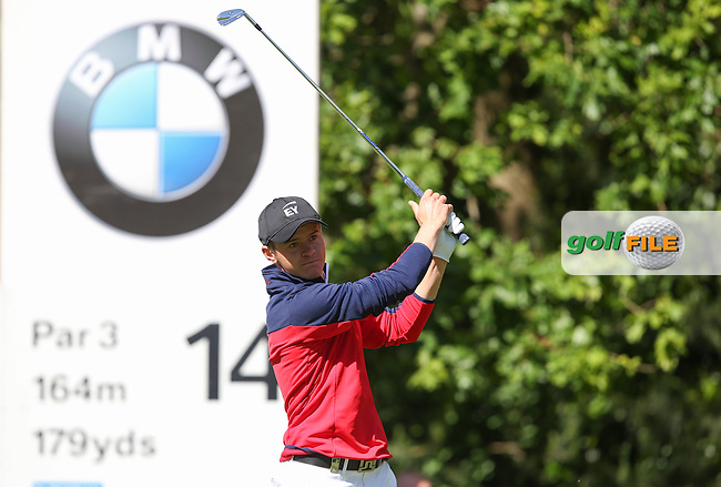 Daan Huizing (NED) tees off to the 14th during the Final Round of the BMW PGA Championship from Wentworth Golf Club, Virginia Waters, London, UK. Picture:  David Lloyd / www.golffile.ie