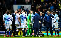 The Blackburn Rovers team prepare for extra time<br /> <br /> Photographer Alex Dodd/CameraSport<br /> <br /> Emirates FA Cup Third Round Replay - Blackburn Rovers v Newcastle United - Tuesday 15th January 2019 - Ewood Park - Blackburn<br />  <br /> World Copyright © 2019 CameraSport. All rights reserved. 43 Linden Ave. Countesthorpe. Leicester. England. LE8 5PG - Tel: +44 (0) 116 277 4147 - admin@camerasport.com - www.camerasport.com