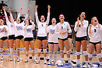 03 DEC 2011:  Concordia University St. Paul celebrates their victory over Cal State San Bernardino during the Division II Women's Volleyball Championship held at Coussoulis Arena on the Cal State San Bernardino campus in San Bernardino, Ca. Concordia St. Paul defeated Cal State San Bernardino 3-0 to win the national title. Matt Brown/ NCAA Photos