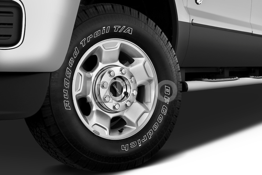 Tire and wheel close up detail view of a 2011 Ford F-250 Crew Cab 4x4