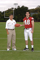 7 August 2006: Stanford Cardinal head coach Walt Harris and Mike Silva during Stanford Football's Team Photo Day at Stanford Football's Practice Field in Stanford, CA.