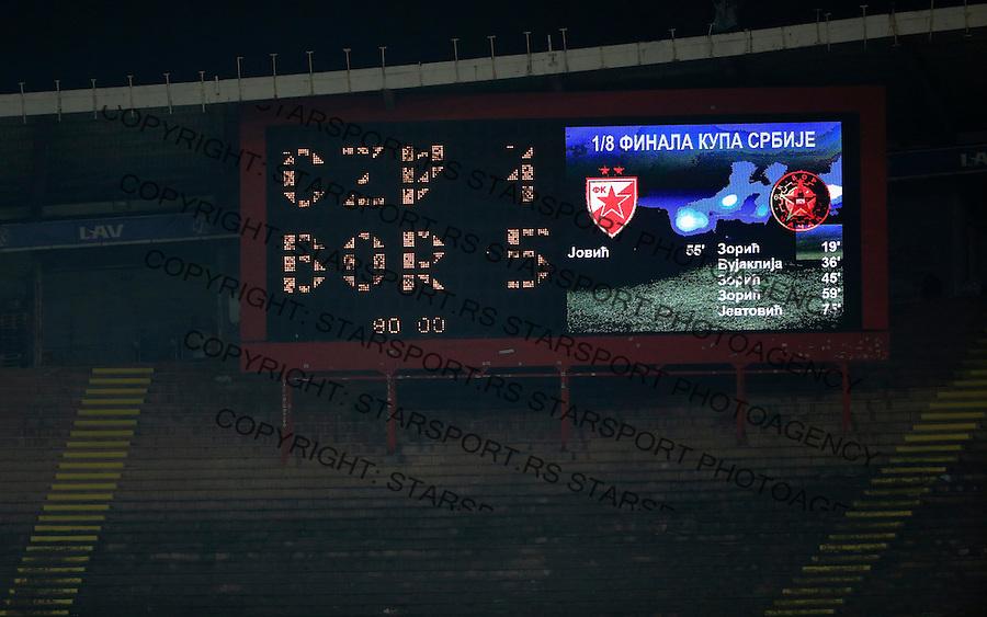 Fudbal Kup Srbije season 2015-2016<br /> Crvena Zvezda v Borac Cacak<br /> semafor rezultat 1-5<br /> Beograd, 12.02.2015.<br /> foto: Srdjan Stevanovic/Starsportphoto&copy;