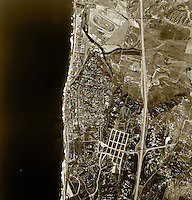 historical aerial photograph Del Mar, San Diego county, California, 1966