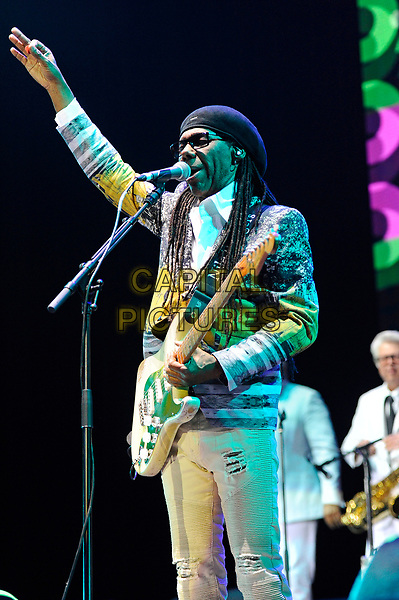 LONDON, ENGLAND - OCTOBER 27: Nile Rodgers &amp; Chic performing at Bluesfest at the O2 Arena on October 27, 2017 in London, England.<br /> CAP/MAR<br /> &copy;MAR/Capital Pictures