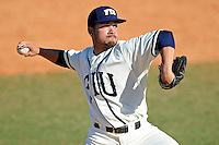 28 February 2010:  FIU's Bryam Garcia (4) pitches as the FIU Golden Panthers defeated the Oral Roberts Golden Eagles, 7-6 (10 innings), at University Park Stadium in Miami, Florida.