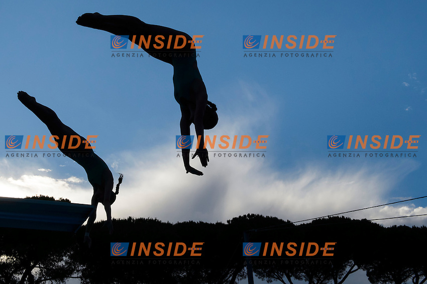 Francesca Dallape', Tania Cagnotto Italia <br /> Springboard 3m Sincro <br /> Roma 20-06-2016 Stadio del Nuoto Foro Italico Tuffi Campionati Italiani <br /> Foto Andrea Staccioli Insidefoto