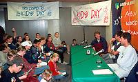 1996, ABNAMROWTT, 1e Kidsday, kids persconferentie met Jarryd, Schapers en Eltingh