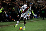 Rayo Vallecano's Luis Advincula during La Liga match between Rayo Vallecano and FC Barcelona at Vallecas Stadium in Madrid, Spain. November 03, 2018. (ALTERPHOTOS/A. Perez Meca)