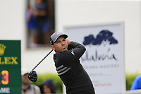 Sergio Garcia (ESP) tees off the 1st tee during Saturday's rain delayed Round 2 of the Andalucia Valderrama Masters 2018 hosted by the Sergio Foundation, held at Real Golf de Valderrama, Sotogrande, San Roque, Spain. 20th October 2018.<br /> Picture: Eoin Clarke | Golffile<br /> <br /> <br /> All photos usage must carry mandatory copyright credit (&copy; Golffile | Eoin Clarke)