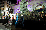 """Sigourney Weaver and Lewis MacDougall with the Monster during the premiere of the spanish film """"Un Monstruo Viene a Verme"""" of J.A. Bayona at Teatro Real in Madrid. September 26, 2016. (ALTERPHOTOS/Borja B.Hojas)"""