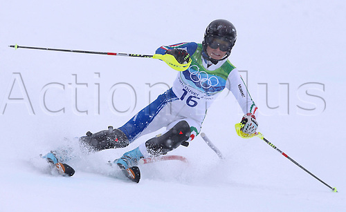 26 02 2010 Copyright Actionplus/GEPA Pictures . 2010 Vancouver Winter Olympic Games. Whistler Canada 26 Feb 10  Ski Alpine Slalom for women Picture shows Manuela Moelgg ITA .  Photo : Imago/Actionplus. Editorial Use UK.
