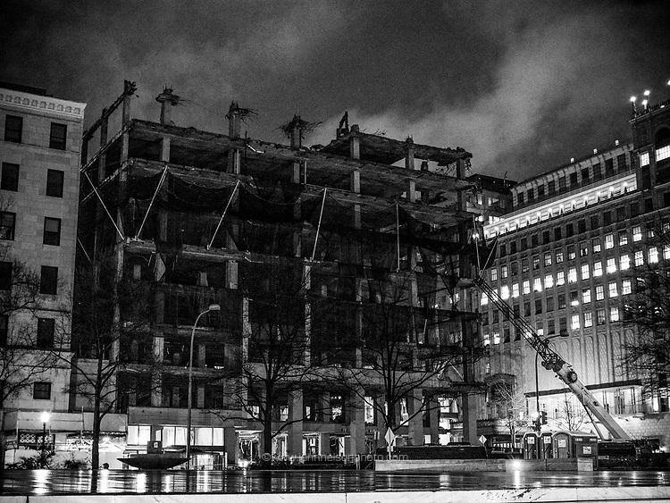 Construction on Pennsylvania Ave, Washington, DC
