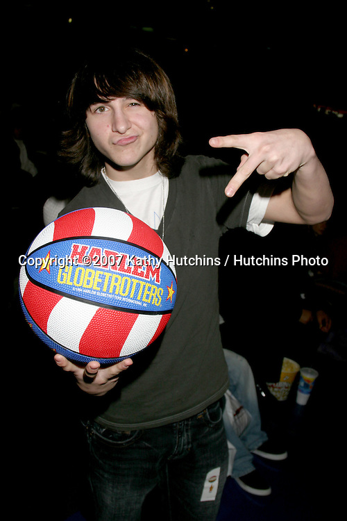 Mitchel Musso  at the .Harlem Globetrotters Game.Staples Center.Los Angeles, CA.February 19, 2007.©2007 Kathy Hutchins / Hutchins Photo.