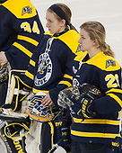 Allison Glasel (Merrimack - 30), Andrea Olson (Merrimack - 20) - The number one seeded Boston College Eagles defeated the eight seeded Merrimack College Warriors 1-0 to sweep their Hockey East quarterfinal series on Friday, February 24, 2017, at Kelley Rink in Conte Forum in Chestnut Hill, Massachusetts.The number one seeded Boston College Eagles defeated the eight seeded Merrimack College Warriors 1-0 to sweep their Hockey East quarterfinal series on Friday, February 24, 2017, at Kelley Rink in Conte Forum in Chestnut Hill, Massachusetts.