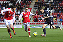 James Dunne of Stevenage atacks. Rotherham United v Stevenage - FA Cup 1st Round - New York Stadium, Rotherham - 3rd November 2012. © Kevin Coleman 2012.
