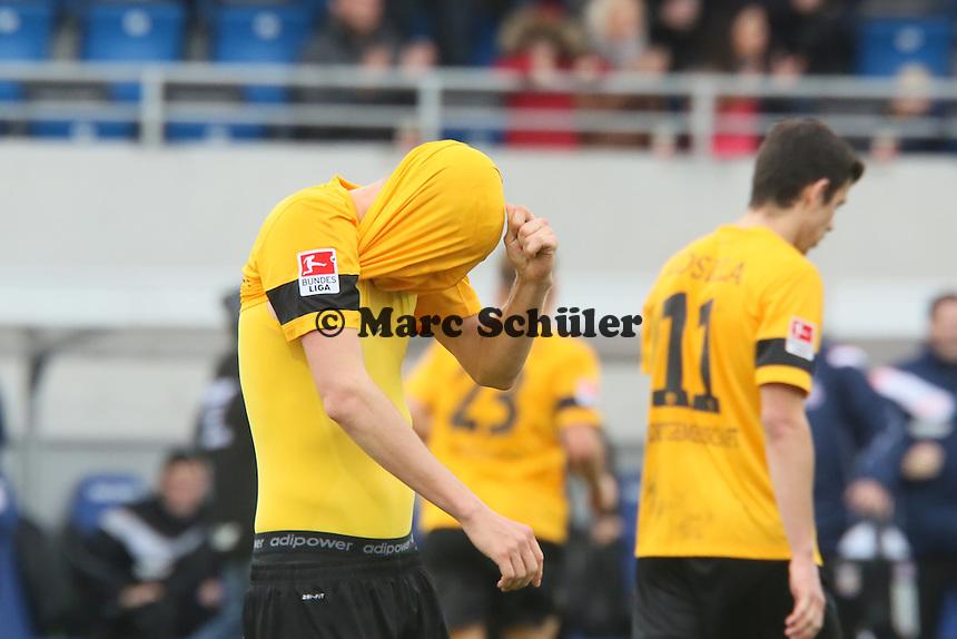 Sebastian Schuppan (Dresden) enttäuscht nach der Niederlage - FSV Frankfurt vs.Dynamo Dresden, Frankfurter Volksbank Stadion