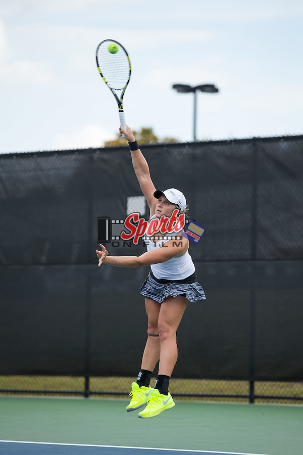 Andrea Retolaza Andrade of the Wake Forest Demon Deacons during singles action in the Wake Forest Invitational at the Wake Forest Tennis Center on October 9, 2015 in Winston-Salem, North Carolina.  (Brian Westerholt/Sports On Film)