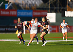 Ilona Delsing Rosa Maher, Womens Sevens on 29 November, Dubai Sevens 2018 at The Sevens for HSBC World Rugby Sevens Series 2018, Dubai - UAE - Photos Martin Seras Lima