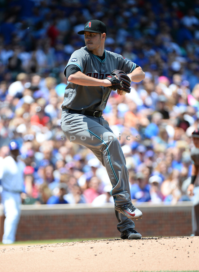 Arizona Diamondbacks Chris Owings (16) during a game against the Chicago Cubs on June 5, 2016 at Wrigley Field in Chicago, IL. The Diamondbacks beat the Cubs 3-2.