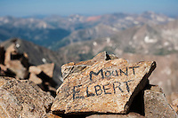 Summit of Mount Elbert (14440 ft), Sawatch range, Colorado, USA