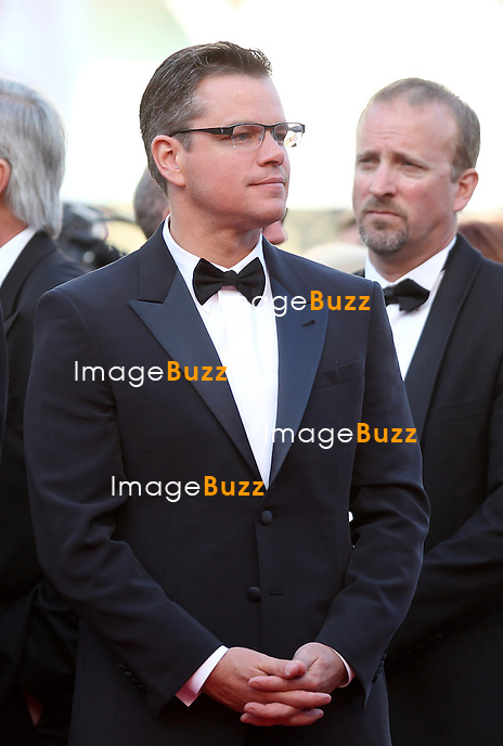 CPE/Actor Matt Damon attends the 'Behind The Candelabra' premiere during The 66th Annual Cannes Film Festival at The 60th Anniversary Theatre on May 21, 2013 in Cannes, France