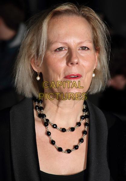 Phyllida Lloyd.''The Iron Lady' European Premiere' European Film Premiere at BFI cinema, Southbank, London, England..4th January 2012.headshot portrait black beads necklace .CAP/ROS.©Steve Ross/Capital Pictures.