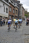 The peleton pass through the Stavelot during the 95th running of Liege-Bastogne-Liege cycle race, running 261km from Liege to Ans, Belgium. 26th April 2009 (Photo by Eoin Clarke/NEWSFILE)