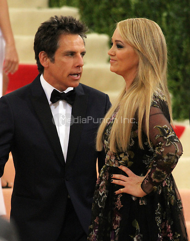 05 02 2016:  Ben Stiller, Christine Taylor  at Manus X Machina: Fashion In An Age of Technology at Metropolitan Museum of Art in New York. Credit:RWMediaPunch