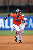 Pavin Smith (10) of the Virginia Cavaliers hustles towards third base against the Duke Blue Devils in Game Seven of the 2017 ACC Baseball Championship at Louisville Slugger Field on May 25, 2017 in Louisville, Kentucky. The Blue Devils defeated the Cavaliers 4-3. (Brian Westerholt/Four Seam Images)