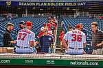 22 September 2018: Washington Nationals pitchers Stephen Strasburg and Sammy Solis sign autographs prior to a game against the New York Mets at Nationals Park in Washington, DC. The Nationals shut out the Mets 6-0 in the 3rd game of their 4-game series. Mandatory Credit: Ed Wolfstein Photo *** RAW (NEF) Image File Available ***