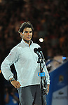 Rafael Nadal (ESP) loses to Stanislaus Wawrinka (SUI) 6-3, 6-2, 3-6, 6-3 in the finals at the Australian Open in Melbourne, Australia on January 26, 2014