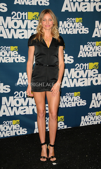 WWW.ACEPIXS.COM . . . . .  ....June 5 2011, Los Angeles....Cameron Diaz in the press room at the 2011 MTV Movie Awards at Universal Studios' Gibson Amphitheatre on June 5, 2011 in Universal City, California. ....Please byline: PETER WEST - ACE PICTURES.... *** ***..Ace Pictures, Inc:  ..Philip Vaughan (212) 243-8787 or (646) 679 0430..e-mail: info@acepixs.com..web: http://www.acepixs.com