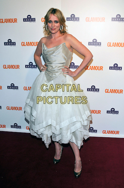KEELEY HAWES.Inside Arrivals at the Glamour Women of the Year Awards 2008 held at Berkeley Square Gardens, London, England,.3rd June 2008.full length strapless cream white dress hands on hips Vivienne Westwood style.CAP/PL.©Phil Loftus/Capital Pictures